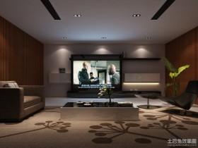 现代客厅家庭影视装修设计效果图