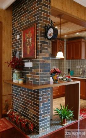 80平米小户型开放式厨房装修效果图