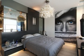 现代卧室吊灯效果图