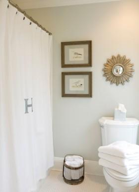 简约卫生间浴帘图片