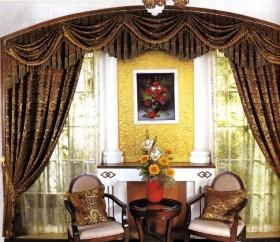 欧式客厅窗帘效果图片欣赏