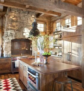 乡村风格厨房餐厅装修效果图