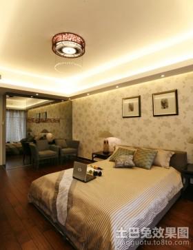 现代三居装修效果图卧室图片
