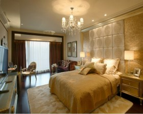 最新欧式简约卧室装修效果图