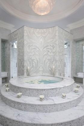 现代卫生间浴缸瓷砖装修效果图大全