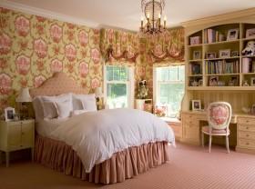 田园风格卧室公主床图片
