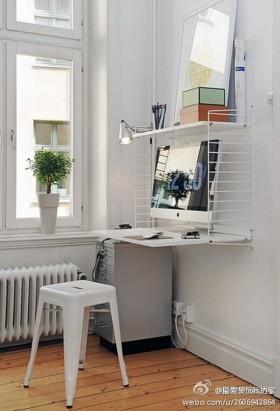 现代简约小书房装修效果图