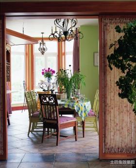 田园复式餐厅装修效果图片
