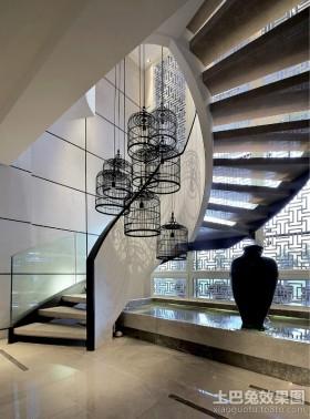 现代别墅楼梯设计图