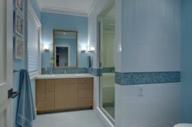 地中海卫生间浴室柜效果图