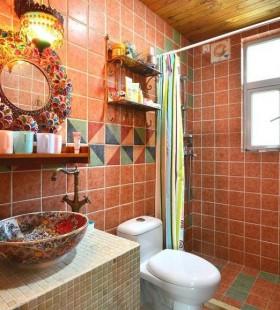 最新小卫生间瓷砖装修效果图