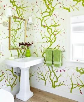 小卫生间壁纸装修效果图大全2013图片欣赏