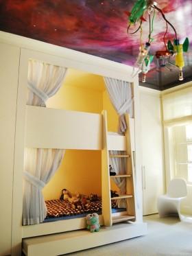 简约风格儿童房卧室装修效果图片