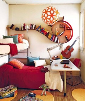 现代儿童房小卧室装修效果图