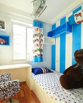 地中海风格儿童房卧室设计效果图