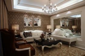 欧式现代家装客厅装修效果图