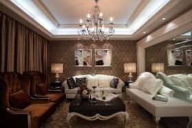 欧式家装客厅壁纸装修效果图