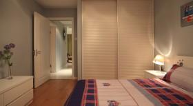 现代简约主卧室设计图