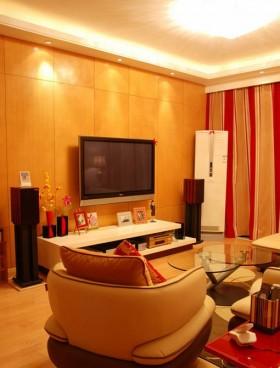 简约客厅电视墙效果图设计