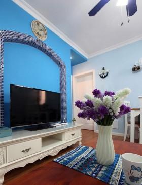 地中海风格电视墙的设计