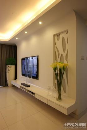 现代风格电视背景墙效果图欣赏