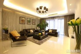 现代风格客厅吊顶造型效果图