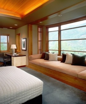 2013最新现代风卧室飘窗装修效果图欣赏