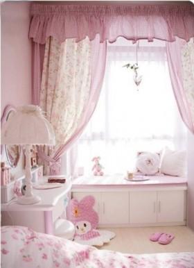 卧室飘窗窗帘效果图欣赏