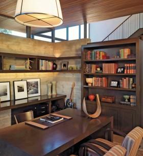 最新欧式小书房装修效果图欣赏