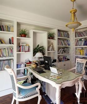 欧式风格书房2013最新欧式风格小书房装修效果图