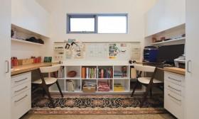现代书房书柜装修效果图