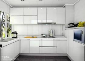 开放式厨房白色整体橱柜效果图