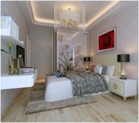 现代风格主卧室装修效果图片