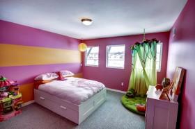 简约儿童房卧室墙漆装修效果图