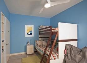 简约儿童房卧室上下铺床装修效果图