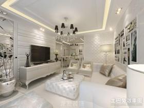 欧式新古典客厅电视背景墙装修效果图