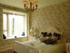 欧式田园卧室墙纸装修效果图