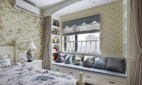 欧式田园卧室飘窗装修效果图