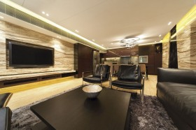 现代客厅大理石电视背景墙装修效果图片