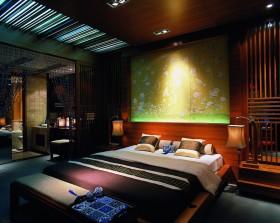 中式风格主卧室装修效果图