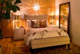 最新卧室床头软包背景墙效果图