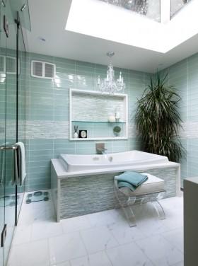 蓝色卫生间卫生间瓷砖贴图