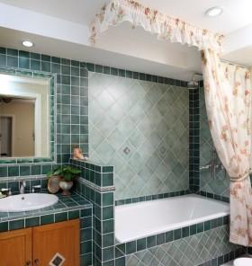 卫生间浴缸瓷砖效果图片
