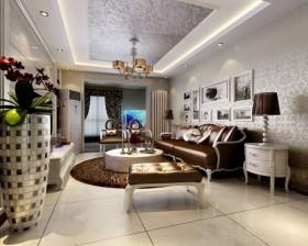120平米三室两厅两卫客厅装修效果图