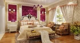 欧式风格卧室窗帘效果图