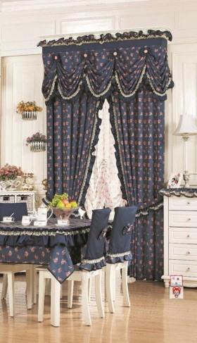 田园风格窗帘装修图片