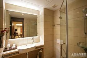 中式干湿分离卫生间装修效果图