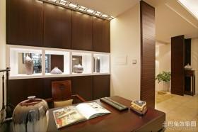 中式小面积书房装修效果图