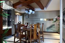 中式家装餐厅吊顶效果图
