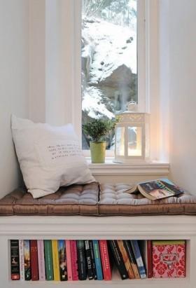 欧式风格书房飘窗装修效果图